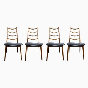 Teak Dining Chairs from Habeo, 1950s, Set of 4