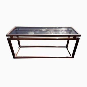 Neo Classical Copper Style Console Table, 1970s