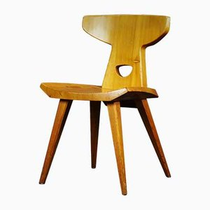 Brutalist Oak Dining Chair, 1970s