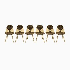 Chaises en Métal et Tissu par Charles & Ray Eames pour Herman Miller, Set of 6