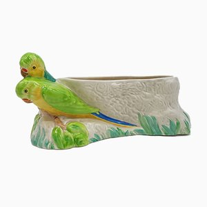 Vintage British Parakeet Bowl by Clarice Cliff