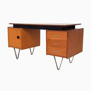 Niederländischer Schreibtisch aus Teak, 1950er
