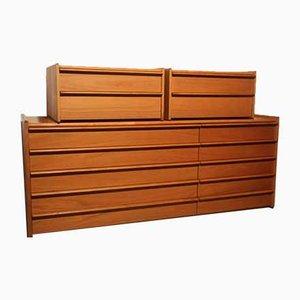 Kommoden aus Holz, 1960er, 3er Set