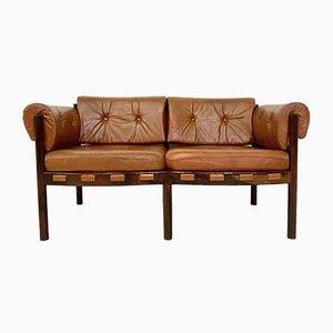 Sofá de palisandro de Arne Norell para Coja, años 60