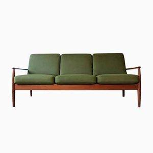 Modernes dänisches Sofa mit Gestell aus Teak von Grete Jalk für France & Søn / France & Daverkosen, 1960e