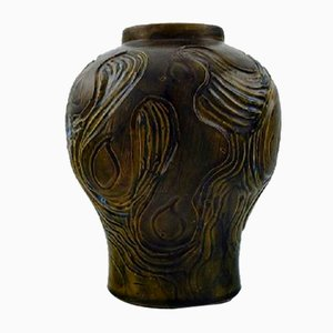 Art Nouveau Glazed Ceramic Vase from Møller & Bøgely, 1920s