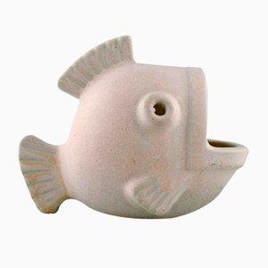 Mid-Century Fisch Figur aus glasierter Keramik von Gunnar Nylund für Rörstrand