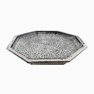 Vintage Glazed Stoneware Dish by Svend Hammershøi for Kähler