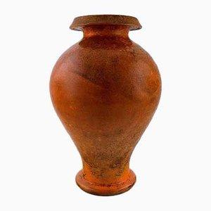 Vintage Vase aus glasiertem Steingut von Svend Hammershøi für Kähler