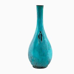Vintage Glazed Stoneware Vase by Svend Hammershøi for Kähler