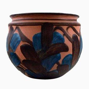 Glasierte Vintage Keramikvase von Kähler