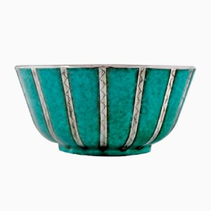 Glazed Ceramic Argenta Bowl by Wilhelm Kåge for Gustavsberg, 1940s