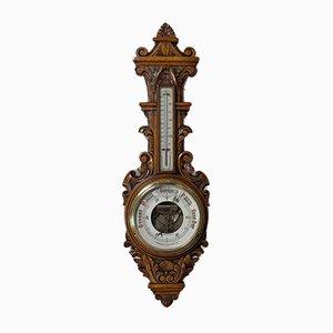 Antikes englisches Barometer aus Eiche von Winstanley of Wigan