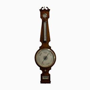Antikes englisches Barometer aus Mahagoni von John Sowter
