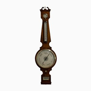 Antique English Mahogany Barometer from John Sowter