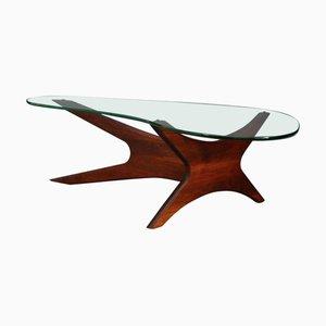 Mesa de centro de nogal de Adrian Pearsall para Craft Associates, años 60