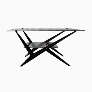 Glass Coffee Table by Maison Arlus for Maison Arlus, 1950s