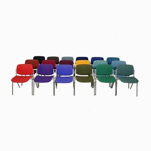 Italian Multi-Colored Stackable Side Chairs by Giancarlo Piretti for Castelli, 1970s, Set of 18