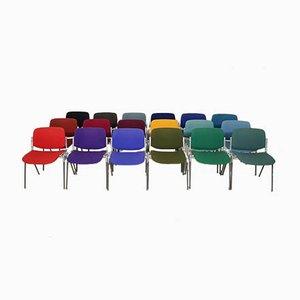 Sedie accatastabili multicolori di Giancarlo Piretti per Castelli, Italia, anni '70, set di 18