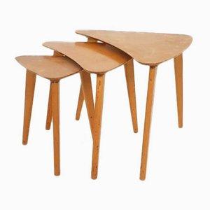 Tavolini ad incastro Boomerang in betulla, Paesi Bassi, anni '60