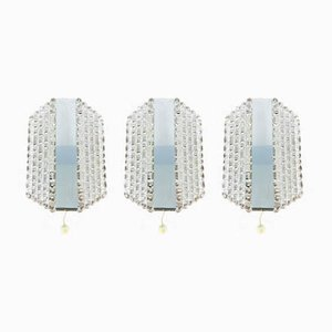 Space Age Glass Sconces from Kaiser Idell / Kaiser Leuchten, 1970s, Set of 3