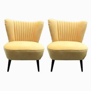 Gelbe Sessel, 1950er, 2er Set