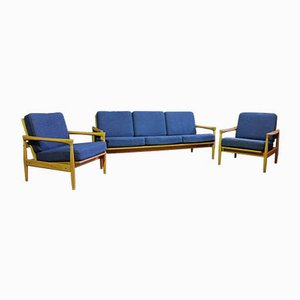 Kolding Sofa and Armchairs from Ikea, 1960s, Set of 3