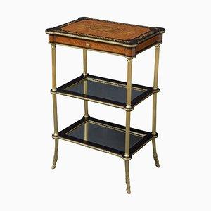 Tavolino antico in legno di tuia