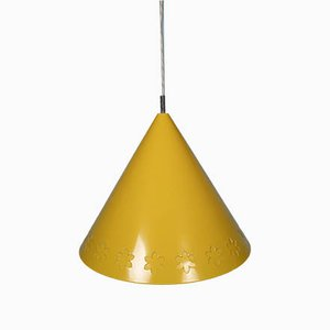 Mid-Century Yellow Flower Ceiling Lamp
