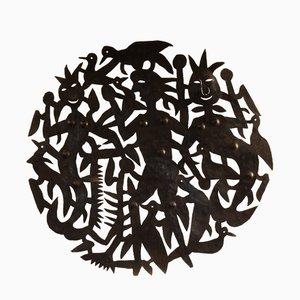Scultura da parete Voodoo in acciaio di Micano Ulysse, anni '50