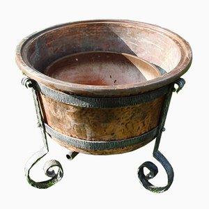 Copper Garden Pot, 1970s