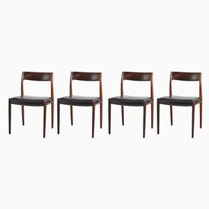Rosewood 77 Dining Chairs by Niels Otto Møller for J.L. Møllers, 1960s, Set of 4