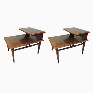 Mid-Century Beistelltische von Lane Furniture, 2er Set