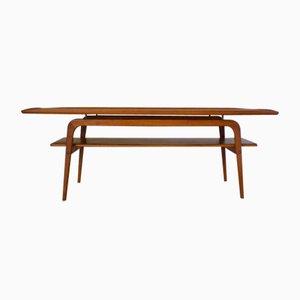 Table Basse Mid-Century en Teck par Arne Hovmand-Olsen pour Toften, Danemark