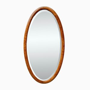 Espejo Mid-Century biselado de madera