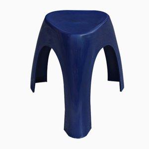 Blauer Taburete Hocker von Sori Yanagi für Vilmer, 1960er