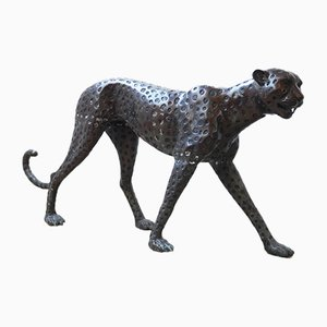 Patinated Bronze Cheetah, 1960s