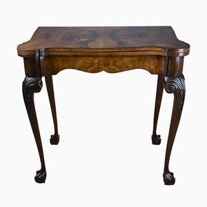 Vintage Spieltisch aus Nussholz, 1920er