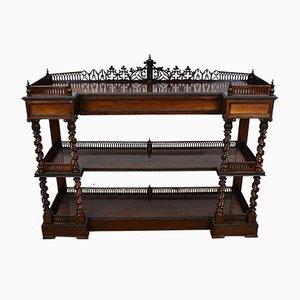 Antikes viktorianisches Sideboard aus Palisander