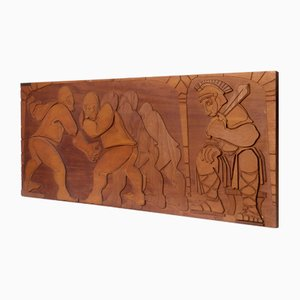 Brutalist Wood Wall Sculpture by Yuri for Yuri, 1970s