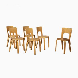 Dining Chairs by Alvar Aalto for Artek, 1950s, Set of 6