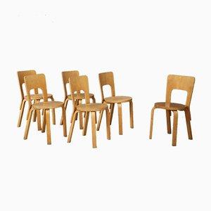 Sedie da pranzo di Alvar Aalto per Artek, anni '50, set di 6
