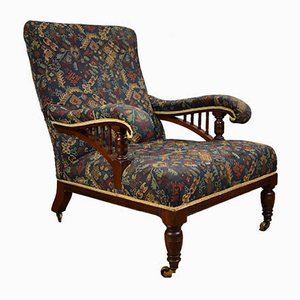 Antique Edwardian Howard Style Armchair
