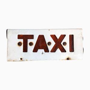 Señal de taxi vintage, años 70