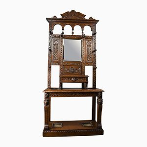 Antique Carved Oak Cabinet