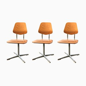 Swiss School Chairs from Embru, 1960s, Set of 3