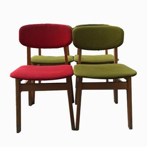Desk Chairs, 1960s, Set of 4