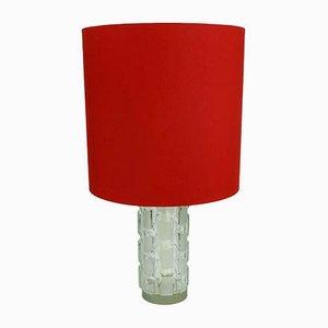 Lampada da tavolo in vetro di Aro-Leuchten, anni '60