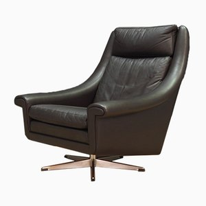 Leather Armchair by Aage Christensen for Erhardsen & Andersen, 1960s