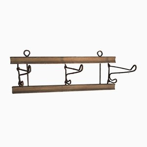 Antique Wood and Iron Rack